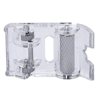sevenmye Portable Mini Bajo vástago Rodillo prensatelas para máquina de coser Accesorios Piel Hogar