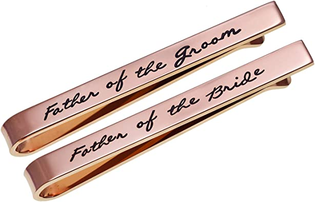 Father of the Groom Tie Clip  Father of the Groom Tie Bar  Hand Stamped  Wedding  Dad  Gift for Dad