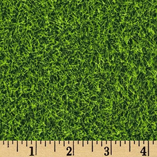 Kaufman Sports Life Grass Turf Grass Fabric By The Yard