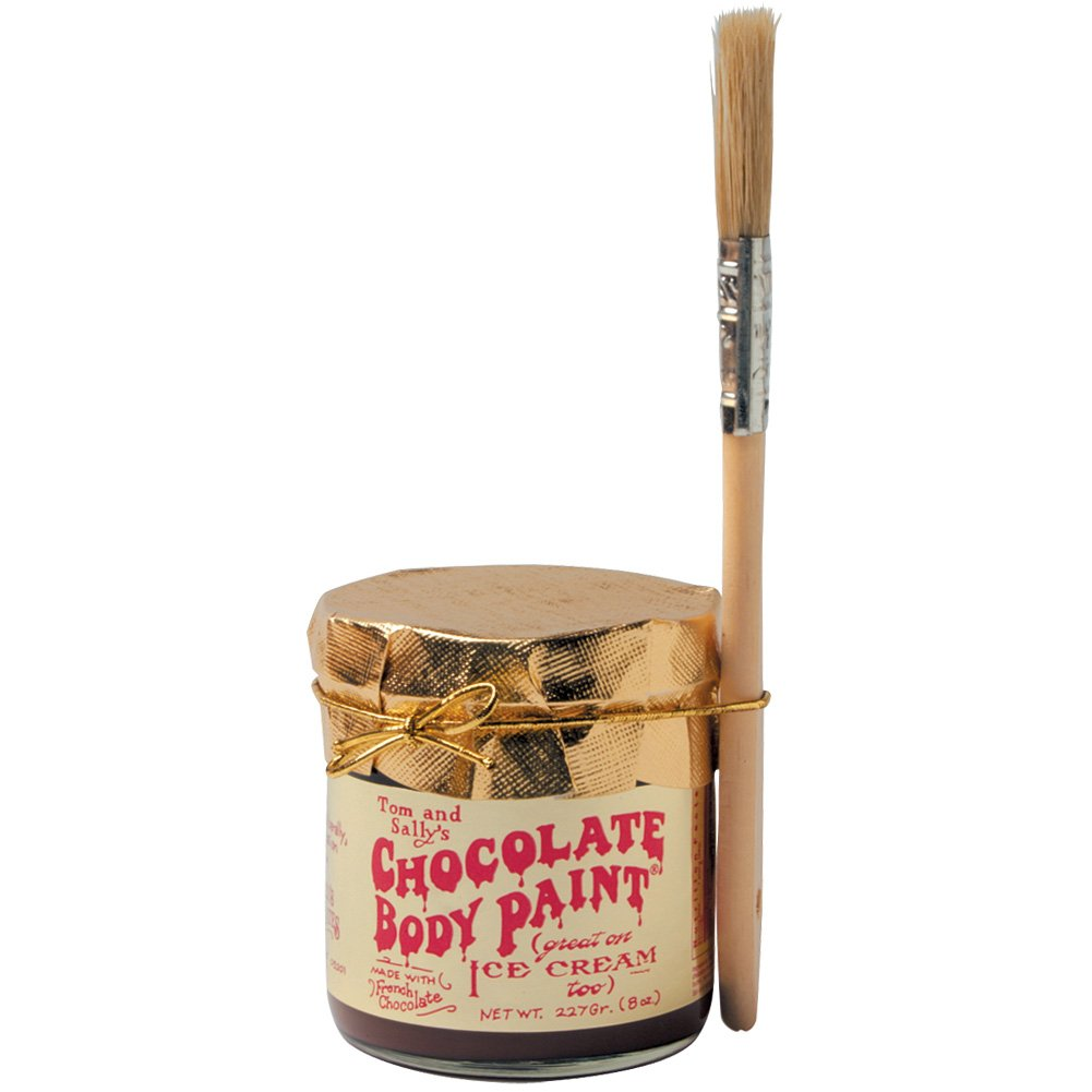 Chocolate Body Paint and Brush By Tom and Sally's - 8 Oz