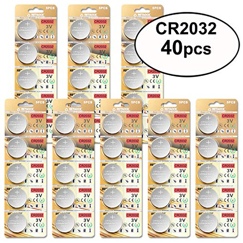 (JOOBEF CR2032 Lithium 3V Battery, Electronic Coin Cell Button for Toys Calculators Watches(40 Pcs))