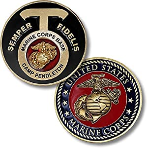 U.S. Marine Corps Base Camp Pendleton, CA Challenge Coin by Armed Forces Depot