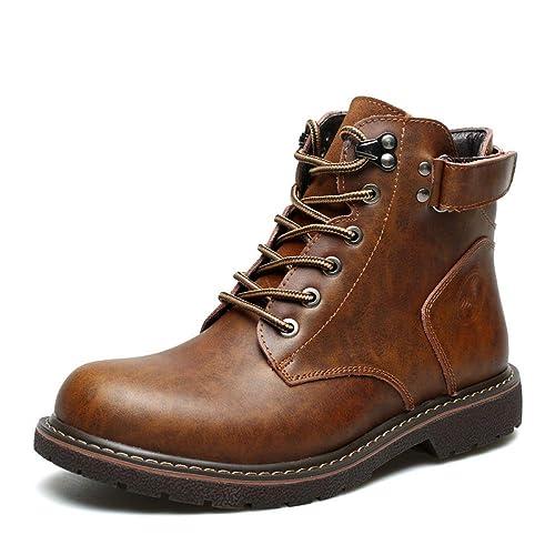 Botines para Hombre Zapatos Altos Zapatos con Cordones De Trabajo En El Desierto Zapatos De Seguridad para Caminatas Al Aire Libre Senderismo En Negro ...
