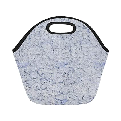 Insulated Neoprene Lunch Bag Paper Old Waste Texture Structure Template Large Size Reusable Thermal Thick