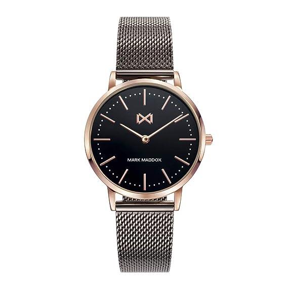 Reloj Mark Maddox para Mujer con Correa Negra y Pantalla en Negra MM7115-57: Amazon.es: Relojes