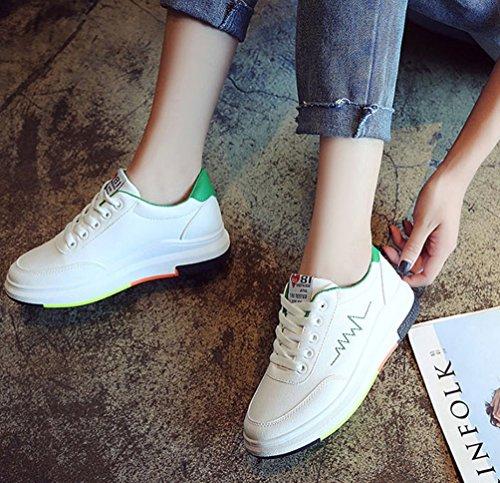 3cm Sport Sneakers Baskets Talon de Brinny Outdoor Chaussures Mode Vert Trail Femme Casual Running q1S6Tz