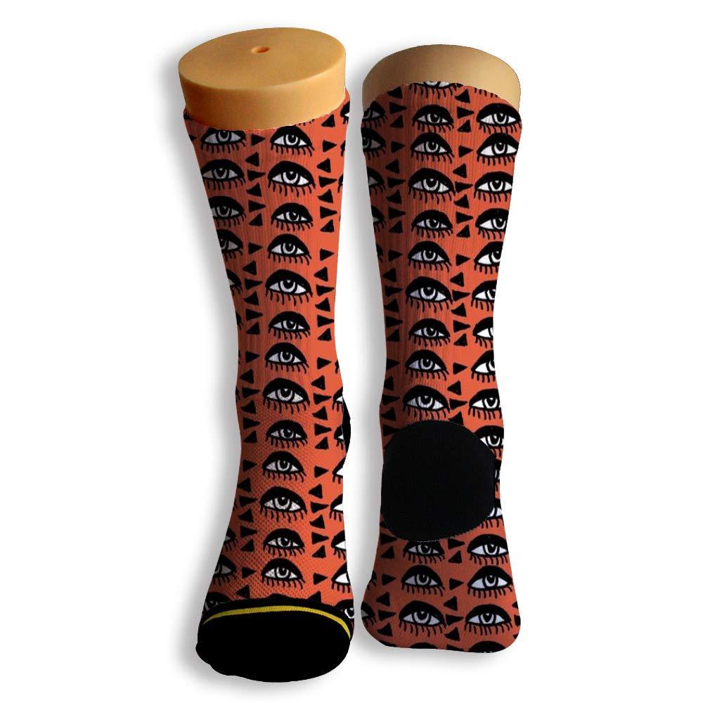 Basketball Soccer Baseball Socks by Potooy Surprising Eyes Pattern 3D Print Cushion Athletic Crew Socks for Men Women