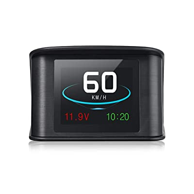 ACBungji Car Head up Display HUD OBD2 GPS Module Speedometer Head Up TFT LCD MPH Over Speed Alarm Voltmeter Warning Auto SUV RV DC 12V: Automotive