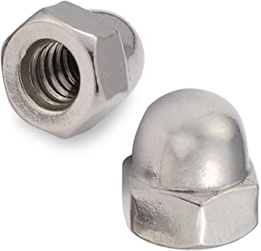 1//2-13 Acorn Nut Stainless Steel 18-8 10 Pack U-Turn