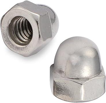 Plain Finish Stainless Steel 18-8 304 50 PCS 10-24 Acorn Cap Nuts