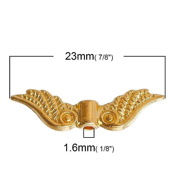 Halblinsen Gold Gold 6mm Perlenkappen filigran 20 Stück #Z60
