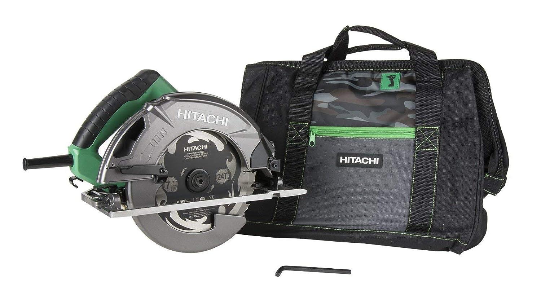 Hitachi C7SB3 15 Amp 7-1 4in Circular Saw 0-55 Bevel Capacity, Blower Function, Aluminum Die Cast Base Renewed