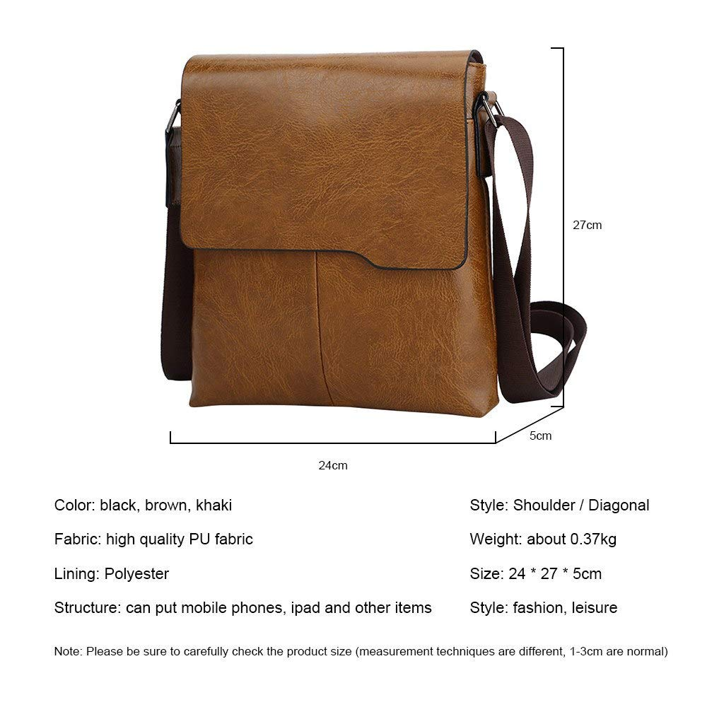 359df97f695b Amazon.com: HuWang Man Leather Messenger Bag Men Male Cross Body ...