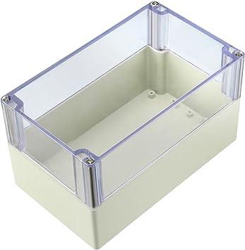 sourcing map 200x113x120 mm Carcasa Caja de Conexiones Electrónica ABS de plástico DIY w Cubierta transparente: Amazon.es: Bricolaje y herramientas