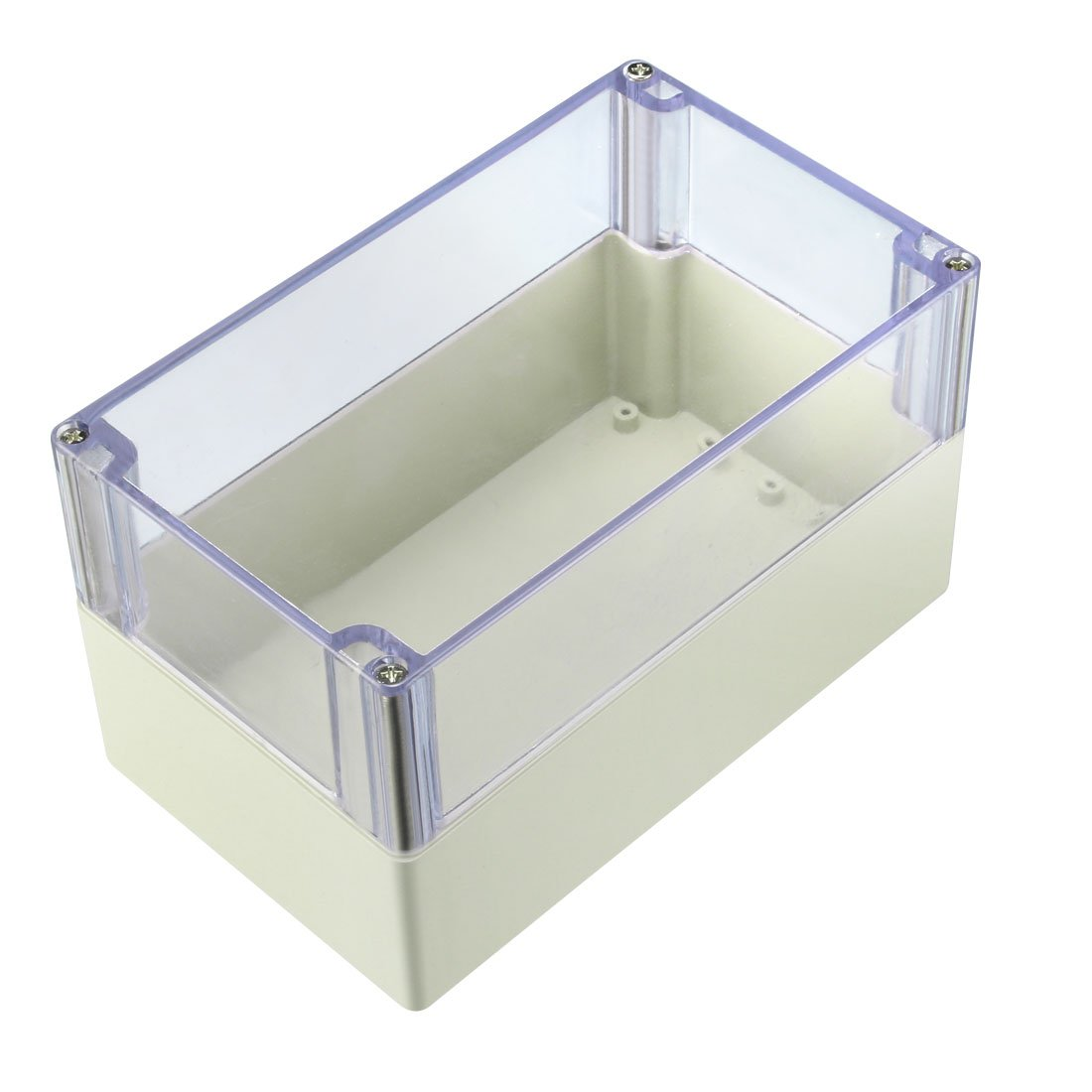 sourcing map 200 x 120 x 113mm Electronic ABS Plastic DIY Junction Box Enclosure Case w Clear Cover a18040600ux0154