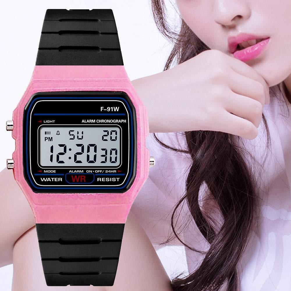 Relojes para Hombre Deportivos Reloj Digital Reloj Militar Inteligente Casual De Control Remoto Exterior Impermeable Beladla (Rosa Caliente): Amazon.es: ...