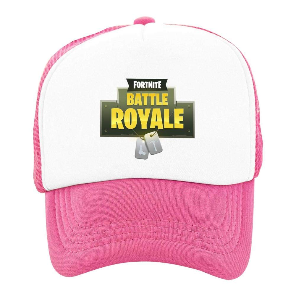 Stzanpt Kids Fortnite Battle Royale Creative Basketball Adjustable Printing mesh Fitted Hats for Youth Boy Girl Funny Design