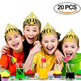 Crown Party Hats 20PCS Glitter Gold Crown Hats Party Supplies Party Decorations for Kids