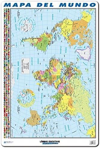 Grupo Erik Editores Lamina Educativa Mapa Del Mundo: Amazon.es ...