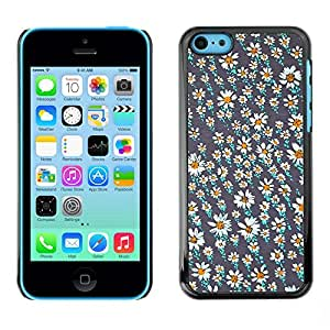 Soft Silicone Rubber Case Hard Cover Protective Accessory Compatible with Apple iPhone? 5C - flower field wallpaper teal pretty