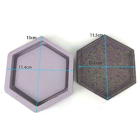 Gereton hexagonal en forma de molde de silicona moldes de maceta de cemento decoración del hogar concreto maceta paleta color al azar: Amazon.es: Bricolaje ...