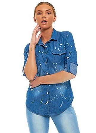 772fede6a4ca8 SS7 - Chemisier - Col Chemise Classique - Femme: Amazon.fr: Vêtements et  accessoires