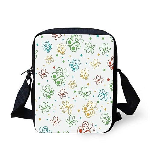 8d6b8a6f3513 Snoogg Abstract Multicolor Butterflies Small Crossbody Bag Mini Handbag  Shoulder Messenger Bags Cellphone Pouch Purse Wallet  Amazon.in  Shoes    Handbags