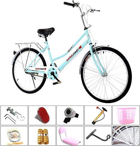 24/26 Pulgadas Bicicleta para Mujer Ciudad con Cesta, Bicicleta ...