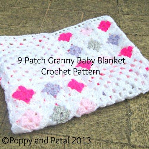 Crochet Pattern. 9-patch Granny Square Blanket
