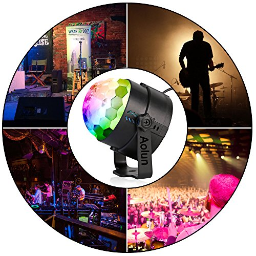 Disco Lights Sound Activated with Remote,Party Lights Disco Ball Light,Stage Lights-Multi Colors Rotating Magic LED Strobe Lights for Halloween,Xmas Parties,Room,Pool,Club,Home,Church,Karaoke,Wedding by Aolun (Image #5)