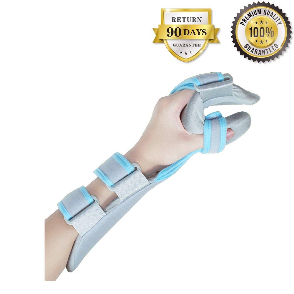 Soft Resting Hand Splint Night Wrist Splint Support Immobilizer Finger Wrist Fracture Fixation Scaffold for Pain Tendinitis Sprain Fracture Arthritis Dislocation (Left)