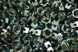 (100) Slotted Hex Castle Nuts 5/8-18 Fine Thread Zinc Plated