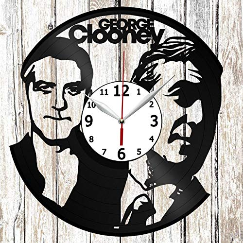George Clooney Vinel Record Wall Clock Home Art