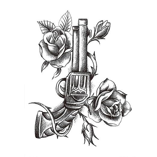 Handaxian Etiqueta engomada del Tatuaje 3pcs diseño de la Rosa ...