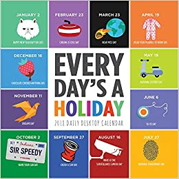 2018 Every Day S A Holiday Daily Desktop Calendar Tf Publishing
