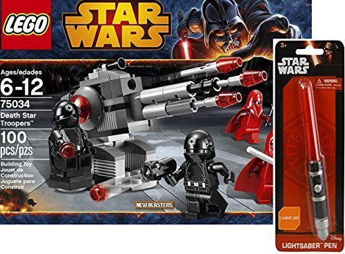 LEGO Star Wars 75034 Death Star Troopers Bundle with Exclusive Lightsaber Pen & Stickers