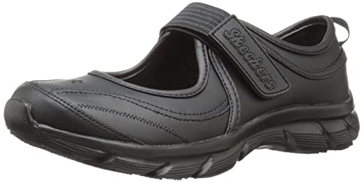 black skechers school shoes