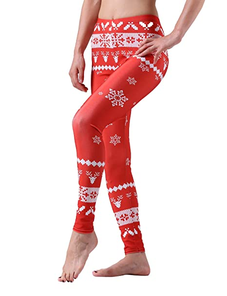 dafc144941594 Image Unavailable. Image not available for. Color  Maxi Buy Christmas  Winter Warm Thermal Best Holiday Leggings ...