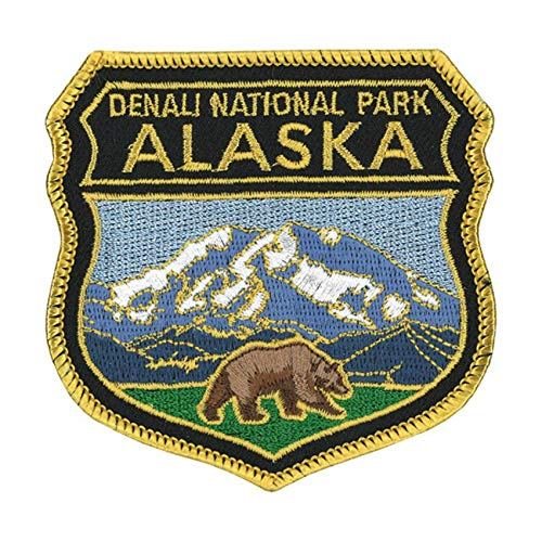 Alaska Denali National Park Logo Flag Patch Series Embroidered Sew/Iron on Badge DIY Appliques ()