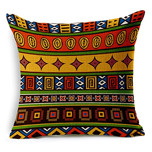 n Style Cotton Linen Decorative Square Throw Pillow Cover Cushion Case for Sofa Bed Car Cushion Cover 18