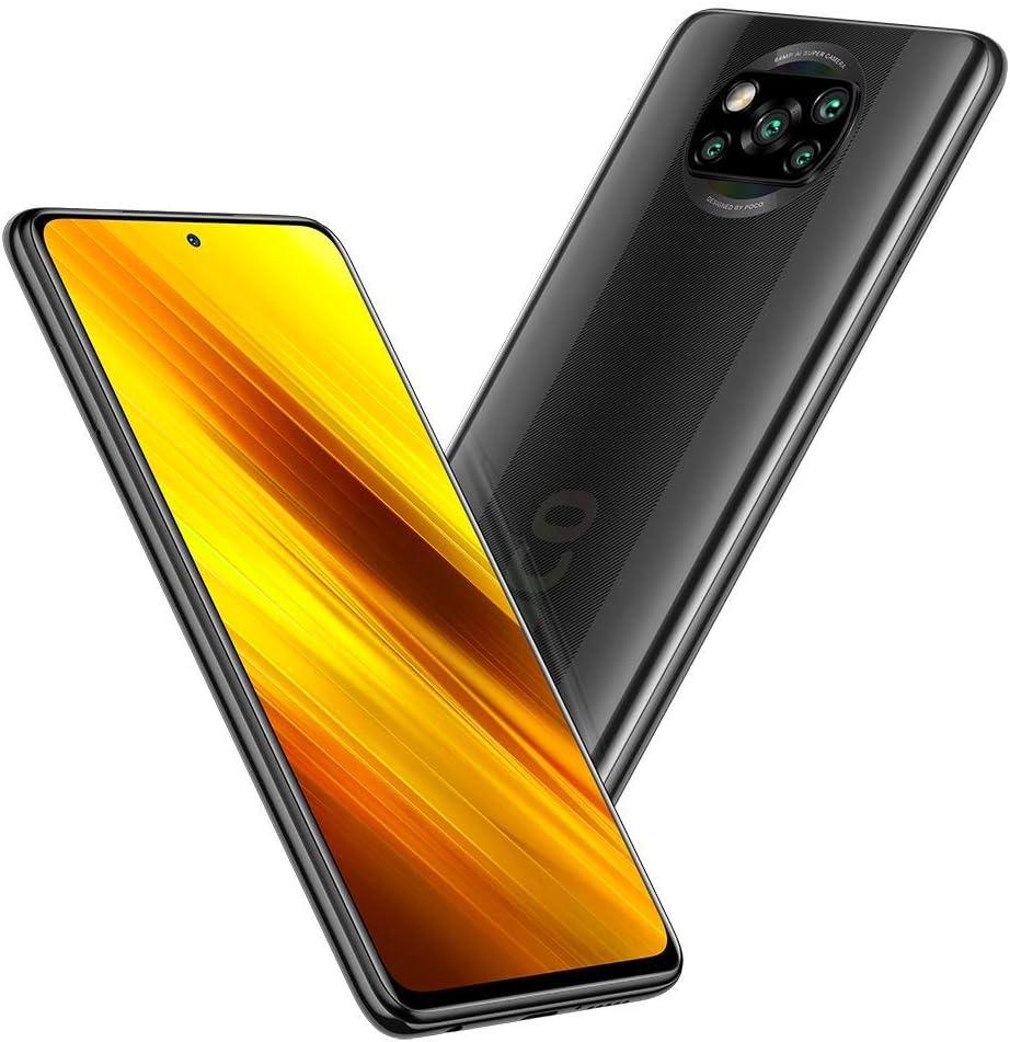 "Xiaomi Poco X3 NFC 128GB, 6GB RAM, 5160mAh (typ) Large Battery, 6.67"" DotDisplay, QUALCOMM Snapdragon GSM LTE Factory Unlocked Smartphone - International Version (Shadow Grey)"