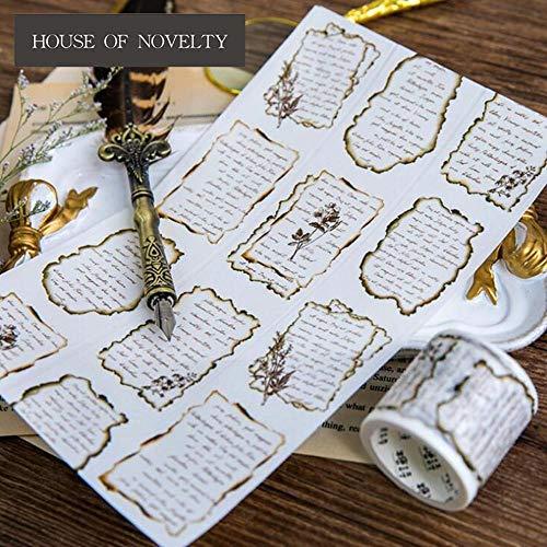 - Packing Tape - Unfinished Poem Letter Washi Tape Adhesive Tape DIY Scrapbooking Sticker Label Masking Tape