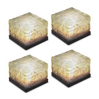 Glaslicht Für Den Gartenweg, Solar, Eislicht, Kristall Klotz, Landschaft,  Licht