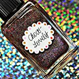Lynnderella Limited Edition—Pink-Shimmered Brown Holographic Nano Glitter Nail Polish—Choco-Lovely