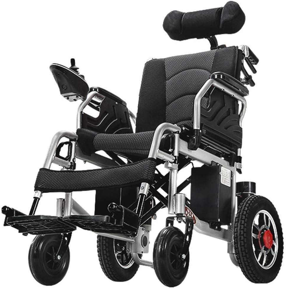 2020 Nueva plegable remoto sillas de ruedas Travel Adult Light, Silla de ruedas eléctrica con reposacabezas ajustable, silla de ruedas eléctrica Movilidad plegable portable, energía o Manual Modo de d