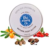The Moms Co. Natural Body Butter (200g), Butter that Targets Dry Skin and Stretch Marks With Shea and Cocoa Butter