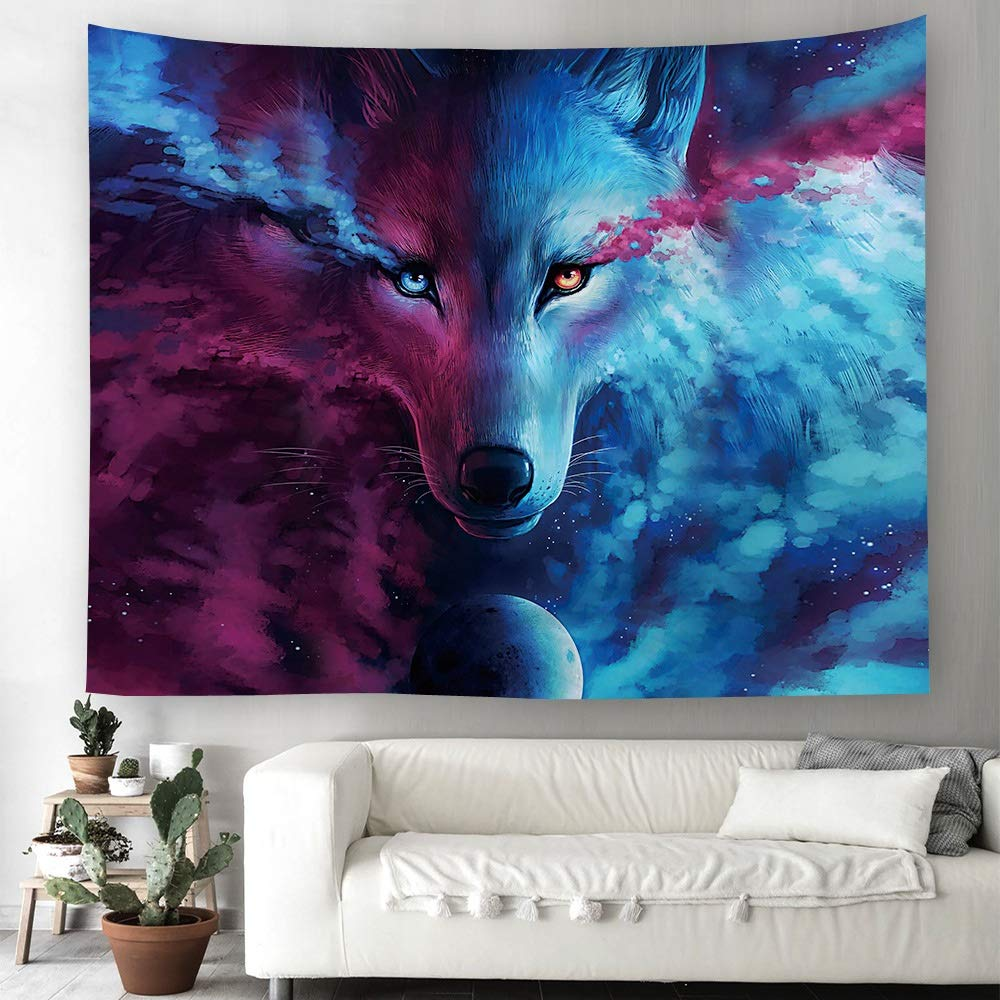 ETH Textile Oil Painting Animal Series Tapestry Printing Home Wall Hanging Wall Decoration Beach Towel Cushion Durable (Size : 150200CM)