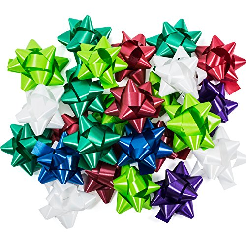 - Gift Bows - Ribbons and Bows for Gifts - Bows for Gifts - Bows for Gift Wrap - 25 Peel and Stick, Self Adhesive, Assorted Color Bows by Tablesto