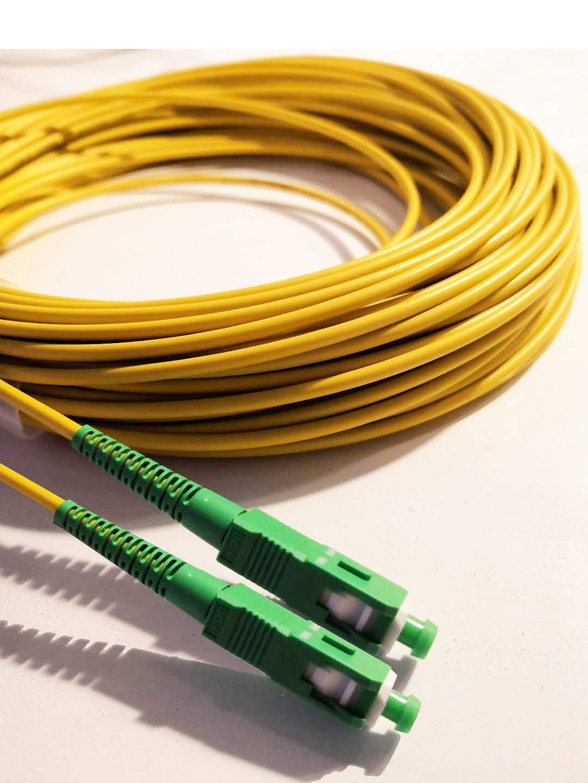 5M Kompatibel mit Glasfaser bis in die Wohnung FTTH, Fiber to the Home Glasfaserkabel SC//APC auf SC//APC Simplex Singlemode 9//125