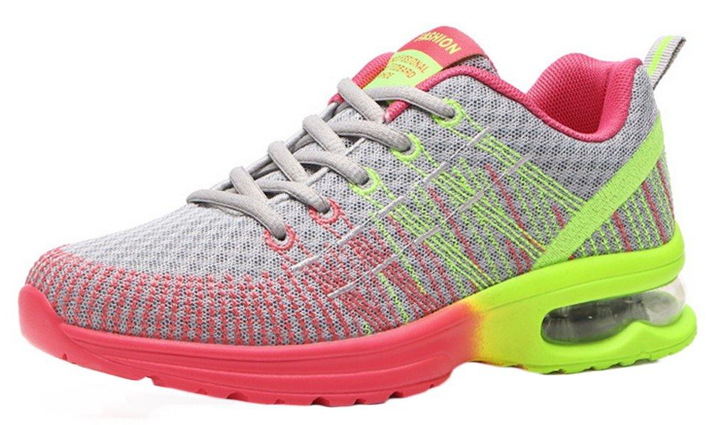 NEWZCERS Femmes Sport Coussin D'Air Jogging Marche ¨¦quitation Chaussures de Course Chaussures de Sport